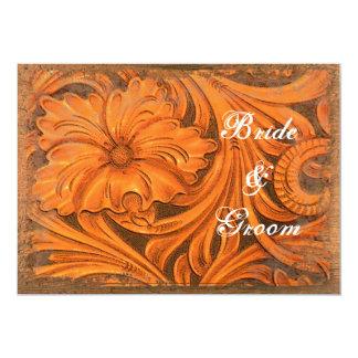 "Rustic Flower Country Wedding Invitation 5"" X 7"" Invitation Card"