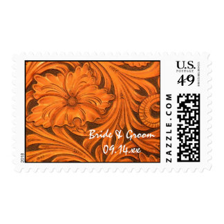 Rustic Flower Country Wedding Postage Stamp