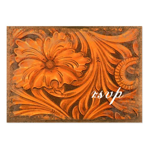 Rustic Flower Country Wedding RSVP Response Card Business Card Templates