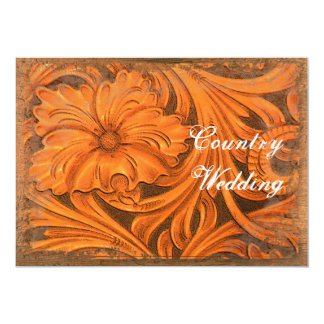 Rustic Flower Country Wedding Save the Date 5x7 Paper Invitation Card