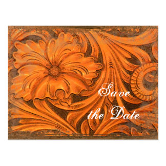 Rustic Flower Country Wedding Save the Date Postcard