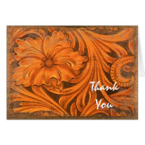 Rustic Flower Country Western Bridesmaid Thank You