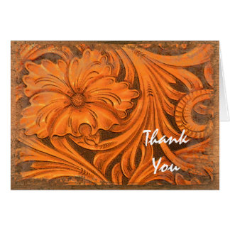 Rustic Flower Country Western Bridesmaid Thank You Card