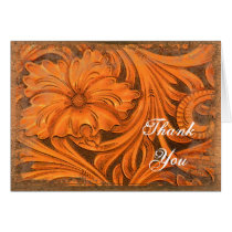 Rustic Flower Country Western Thank You