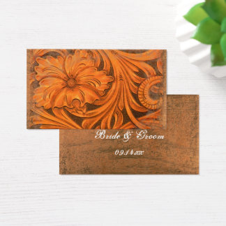 Rustic Flower Country Western Wedding Favor Tags