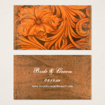 Rustic Flower Country Western Wedding Website Business Card
