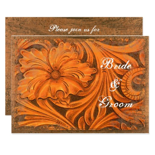 Rustic Flower Couples Country Wedding Shower Card