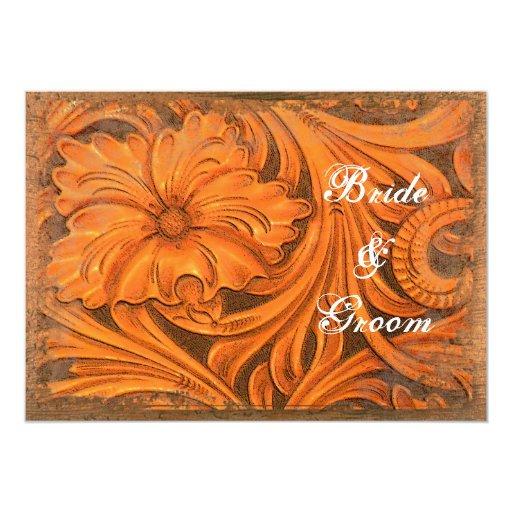 Rustic Flower Couples Country Wedding Shower Custom Invite