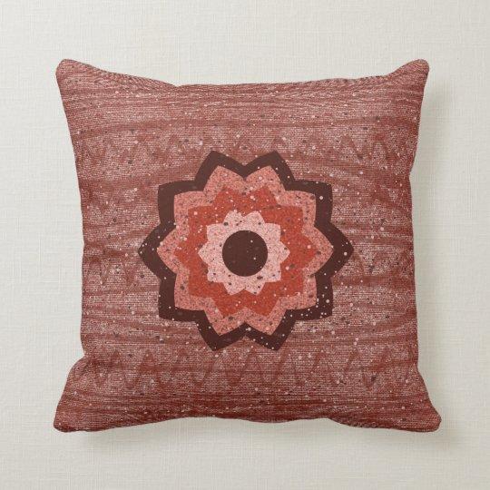 Rustic Flower Pillow