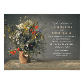 Rustic Flower Vase 6.5x8.75 Painting Wedding Card