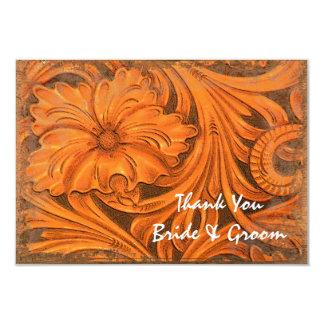 Rustic Flower Western Wedding Thank You Note Card