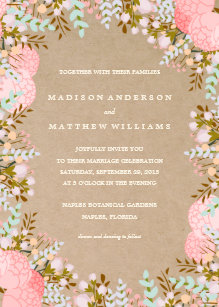 Flower Border Invitations