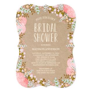 Rustic Flowers | Bridal Shower Invitation at Zazzle