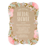 Rustic Flowers | Bridal Shower Invitation at Zazzle