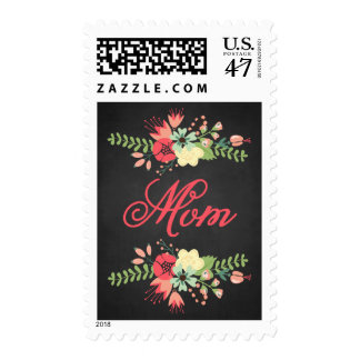 Rustic Flowers | Happy Mother's Postage Stamp