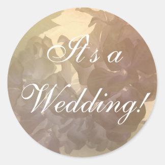 Rustic Flowers wedding stickers