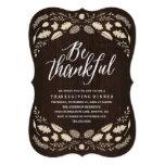 Rustic Foliage | Thanksgiving Dinner Invitation