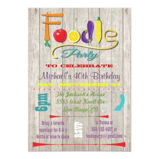 Rustic Foodie party Invitations
