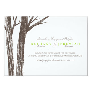 Rustic Forest Engagement Party Invitation