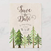 Rustic Forest Save the Dates Save The Date