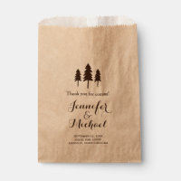 Rustic Forest Trees Wedding Thank You Candy Buffet Favor Bag
