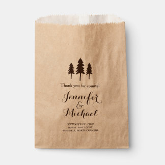Rustic Forest Trees Wedding Thank You Candy Buffet Favor Bags