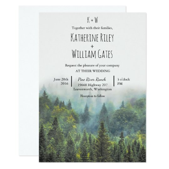 Rustic Forest Wedding Invitation Zazzle Com