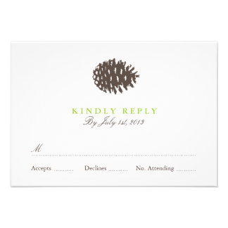 Rustic Forest Wedding RSVP Personalized Invites