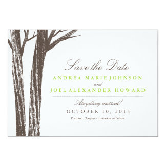 Rustic Forest Wedding Save the Date 5x7 Paper Invitation Card
