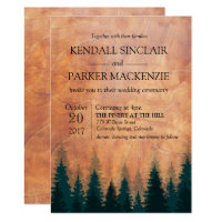 Rustic Forest Wood Wedding Invitation