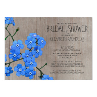 Rustic Forget-Me-Not Bridal Shower Invitations