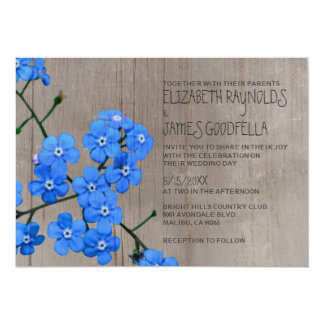 Rustic Forget-Me-Not Wedding Invitations