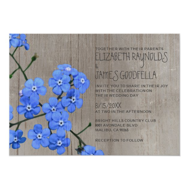 Forget Me Not Wedding Invitations is perfect invitation design