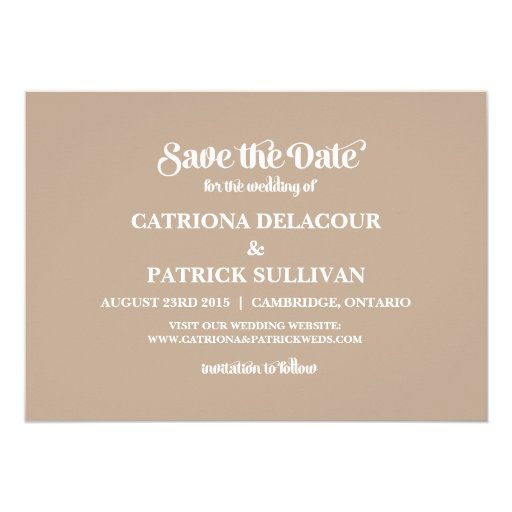 Rustic Four Photo Frame Save the Date Announcement (back side)