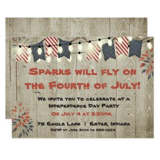 Rustic Fourth of July Invitation