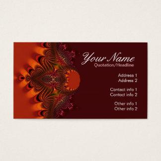Rustic Fractal Elegance Business Card