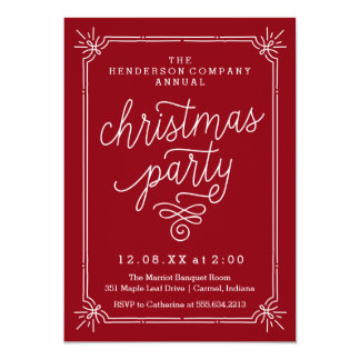 Rustic Frame Annual Christmas Party Invite