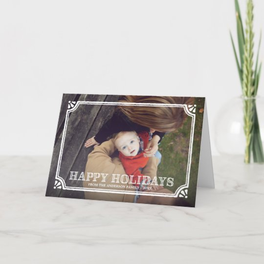 Rustic frame folded holiday greeting card zazzle rustic frame folded holiday greeting card m4hsunfo