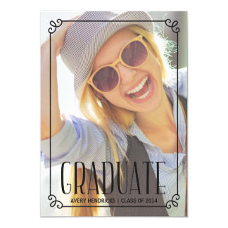 Rustic Frame | Photo Graduation Party Invite