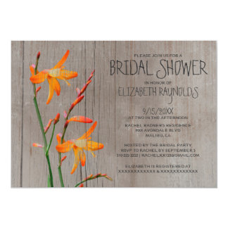 Rustic Freesia Bridal Shower Invitations
