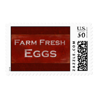 Rustic Fresh Eggs Sign Postage
