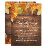 Rustic Friendsgiving Dinner Invitation