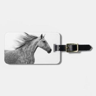 Rustic Galloping Andalusian Horse Bag Tag