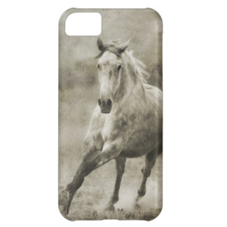 Rustic Galloping Andalusian Horse Case For iPhone 5C