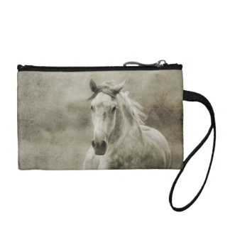 Rustic Galloping Andalusian Horse Change Purse