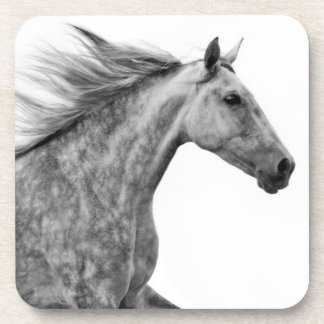Rustic Galloping Andalusian Horse Beverage Coasters