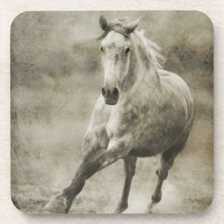 Rustic Galloping Andalusian Horse Drink Coaster