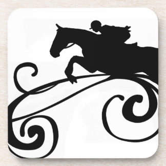 Rustic Galloping Andalusian Horse Drink Coasters