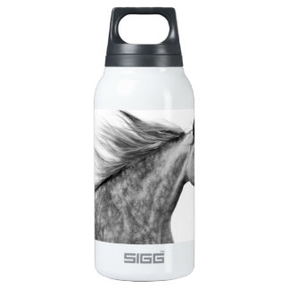 Rustic Galloping Andalusian Horse Insulated Water Bottle