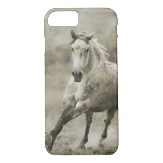 Rustic Galloping Andalusian Horse iPhone 7 Case